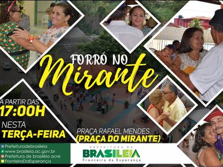 Forro no Mirante, hoje 16/10, a partir das 17:00, venha, você é nosso(a) convidado(a) especial