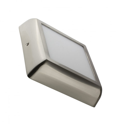Plafonnier LED Carré Design 12W Silver