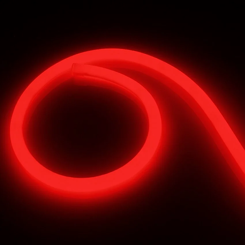 Copie de Néon LED Flexible 360 Rond 120 LED/m 220V AC Rouge