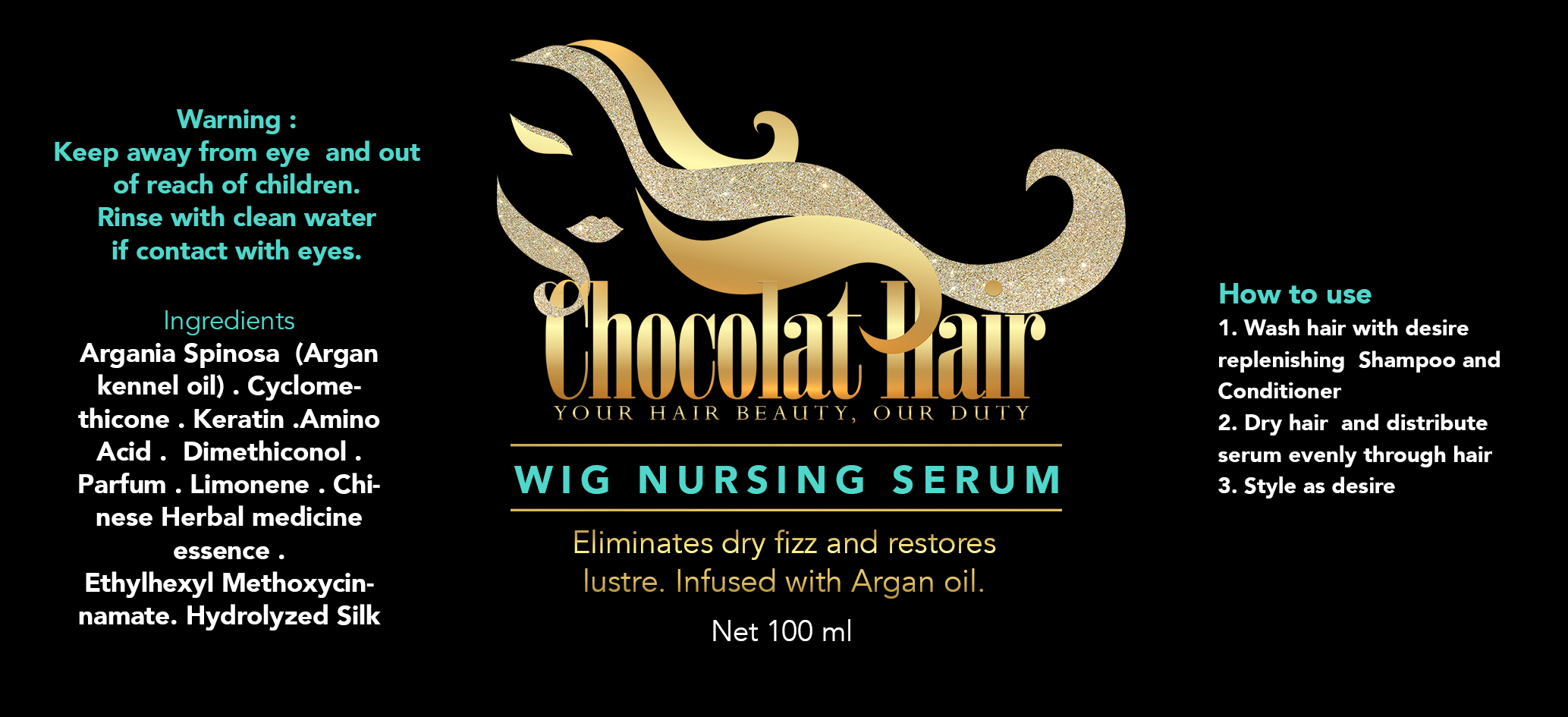 CHOCOLAT HAIR LABEL 2