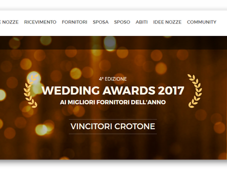WEDDINGS AWARDS 2017- matrimonio.com
