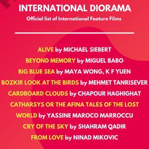 List of Selected Films for Diorama International Film Festival 2020