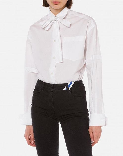 Camicia in popeline con fiocco