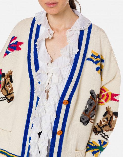 Maxi cardigan in lana
