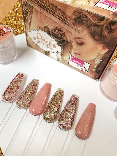 Rose Gold Fantasy Nails