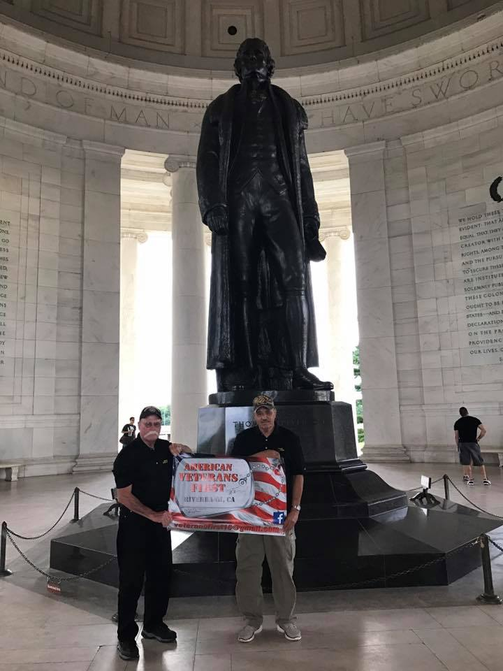 AmVets1st at the Jefferson Memorial