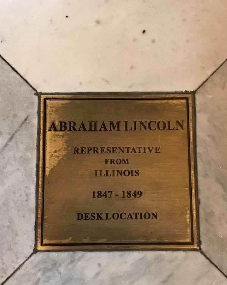 Abe Lincoln Desk Plaque (AmVets1st)
