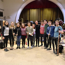 with students after masterclass in Córdoba, Argentina