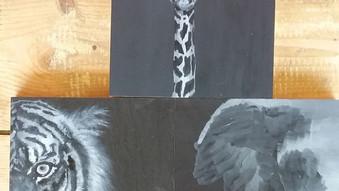 African Animals tryptich