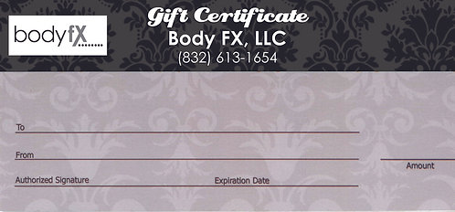Body FX Gift Certificate