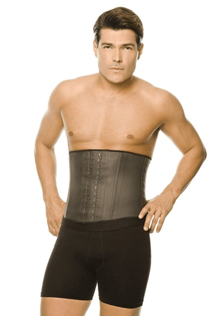 MEN'S LATEX WAIST CINCHER BY ANN CHERY