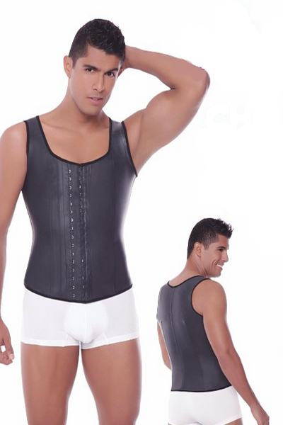 Men's Latex Vest by Ann Michell