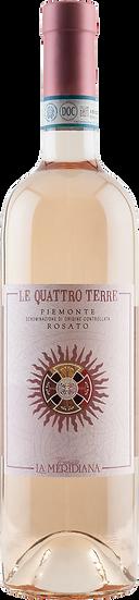 """TENUTA LA MERIDIANA Piemonte Rosato DOC """"Le Quattro Terre"""" 2019"""