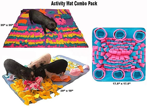 Activity Mat Combo Pack of 3 - $74 Value - My Secret to A Quiet Pig - Keep Your