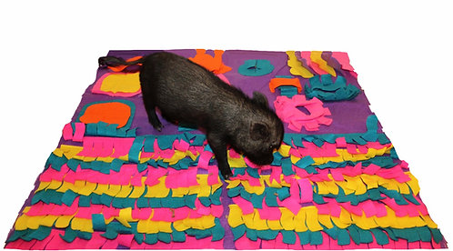 "Pig rooting ""snuffle"" mat  (35""x 35"")"