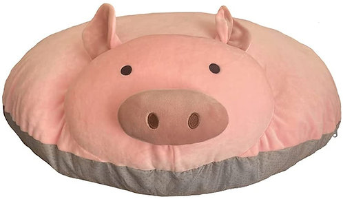 """Piggy Poo and Crew Large Overstuffed Pig Pillow 33"""" x 10"""" - Soft Plush Material"""
