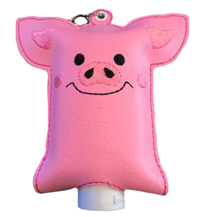 Handmade Embroidered Hand Sanitizer -Clip on Your Bag, Backpack, or Stroller