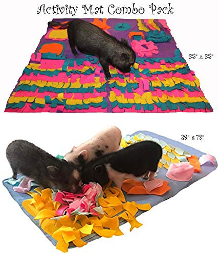 Activity Mat Combo Pack - My Secret to A Quiet Pig - Keep Your Pig Busy -