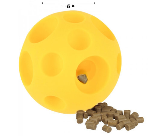 "Pig Rubber Treat Teething Ball - 16"" Circumference"