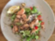 Dinner tonight _Salmon garlic quinoa bro