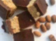 Raw peanut butter & cacao slice. ._•_I c