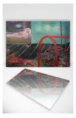 Layups, A Painting, Reflecting...