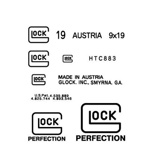 マルチユース 3D立体強化デカール - Glockロゴ -