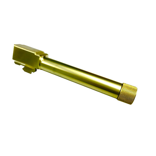 【9月新発売】ストライカー9専用 サイレンサー対応アウターバレル(14mm逆ネジ)/ゴールド