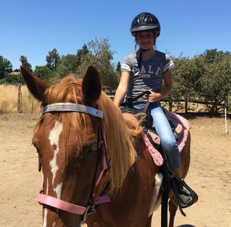 Ava riding Lightning