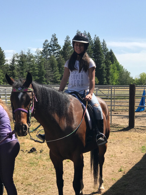 Ace riding Roxie
