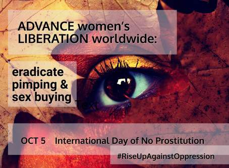 International Day of No Prostitution Marked by Women's and Civil Society Groups