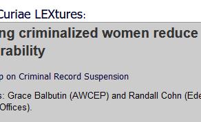Helping criminalized women reduce vulnerability