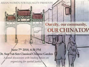 Our City, Our Community, Our Chinatown