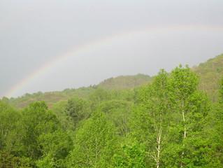 Rainbow over Hap Mountain
