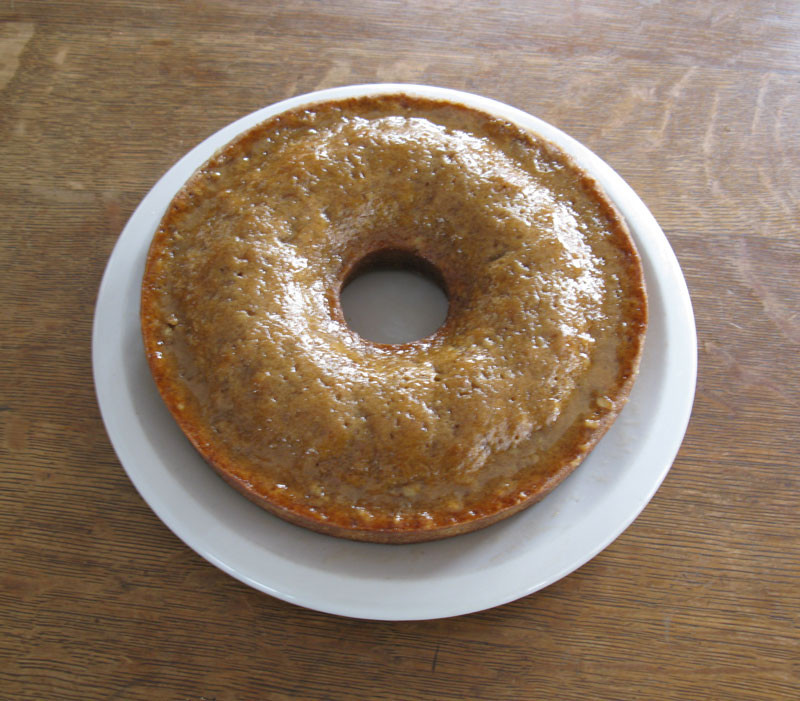 rum walnut cake
