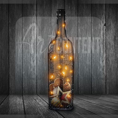 CU/PU Christmas decorative bottle