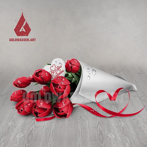 CU/PU Bouquet of tulips