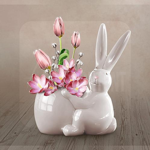 CU/PU Rabbit vase