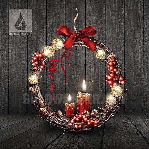 CU/PU Christmas wreath