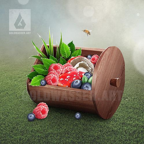 CU/PU Pot with wild berries