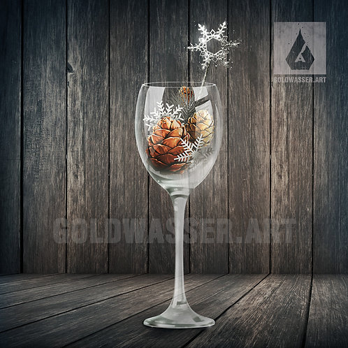 CU/PU Glass with christmas decor