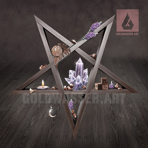 CU/PU Pentagram shelf