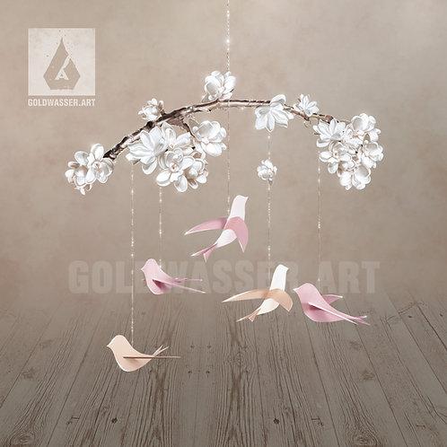 CU/PU Decorative branch with birds