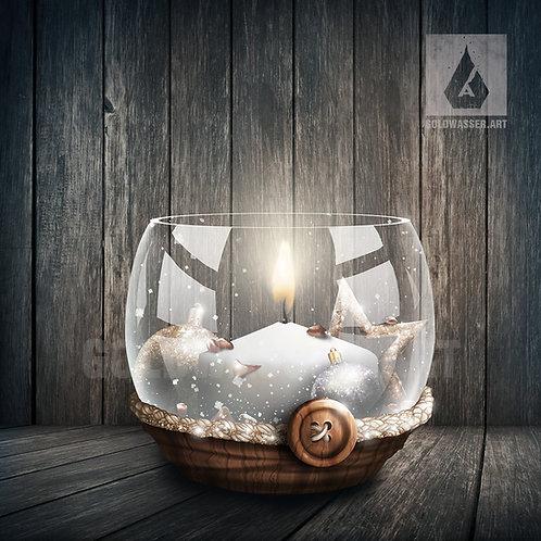CU/PU Glass candlestick