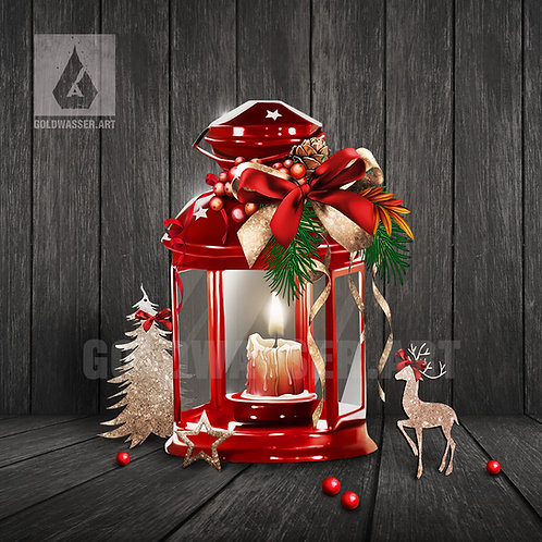 CU/PU Christmas lantern