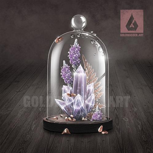 CU/PU Cloche with crystals