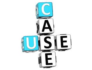 3D Case Studies Crossword on white backg