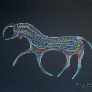 Bull Sketch, 2013 [GJ13G-113]