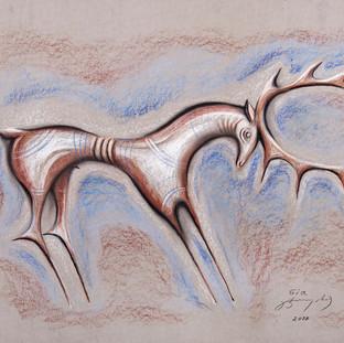 76x100 cm, pastel on cardboard