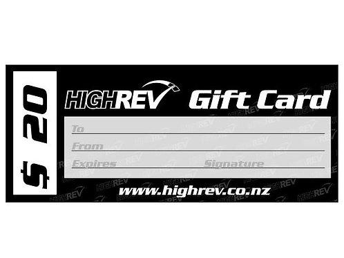 High Rev Gift Card $20